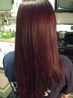 New burgundy hair color I love it!