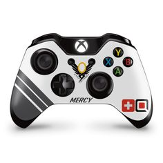 Xbox one Overwatch Mercy controller wrap skin Gamecube Games, Wii Games, Xbox 360 Games, Control Xbox, Playstation, Consoles, Videogames, Youtubers, Xbox One Skin