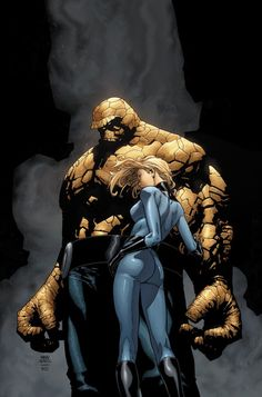 Invisible Woman & The Thing - Steve McNiven