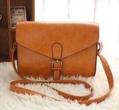 Retro look Women Bag Clutch Handbag Shoulder bag cross body bag postman style Satchel brown on Etsy, $24.50