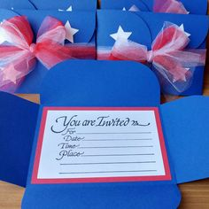 Be the talk of the town with these 4th of July invites! We have party favors to match too.