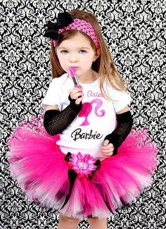 Tutu disfraz Barbie para niña COMPLETO