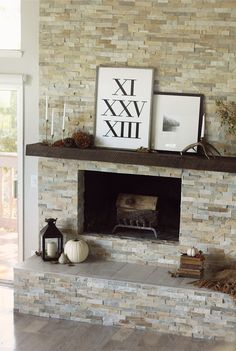 love the colour of the stone around fireplace for my dining room. Should I put ceramic tile on the hearth?