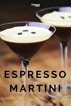 Dessert Drinks We Love: The Espresso Martini. It'll wake you up, then eff you up. Perfect for #coffee lovers who are in need of an elegant #cocktail