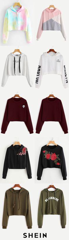 Crop sweatshirts