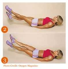 criss-cross lower ab/thigh exercise #weightloss #loseweight #diet #fitness