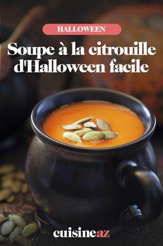 La soupe à la citrouille est l'entrée chaude incontournable d'Halloween. En plus, c'est facile à cuisiner. #recette#cuisine#soupe#citrouille #halloween