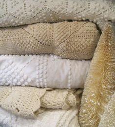 vintage blankets - chenille... love it.