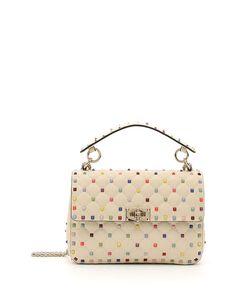 Valentino Garavani Candy-Stud Medium Shoulder Bag | Neiman Marcus
