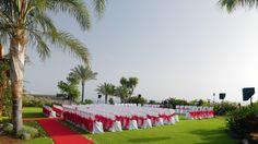 Свадьба на Канарах - Свадьба в Испании - Abama Golf & Spa Resort - Set-up for a wedding ceremony at El Mirador