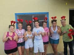 Sponsorship Awareness Brigade 2012: Christmas in July at Nuevo Paraiso, all of santa's little helpers!