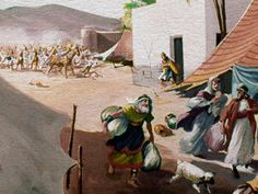 The Midianites just took over the land and, hopelessly outnumbered by their enemies, the people of Israel left their homes and fled for their lives into the wilderness, leaving most of their possessions behind. Trust God, Wilderness, Army, Illustration, Solomon, Enemies, Painting, Life, Men