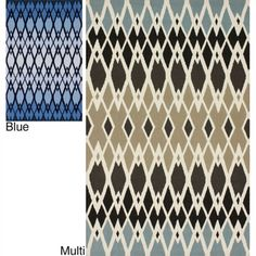 Handmade Fence Wool Rug (5' x 8')