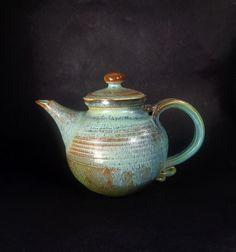 Vintage Collectible Dryden Glazed Pottery, Arkansa, Circa 1999. Functional Pottery teapot tea pot