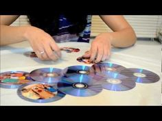 How To Make a Photo Frame Out of Waste CDs - YouTube