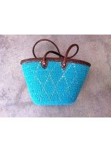 Z&L Neon Crochet Beach Bag- Blue