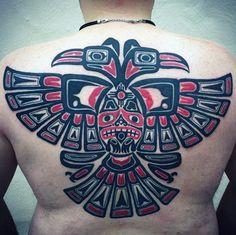 Tribal Haida Tattoo Male Back