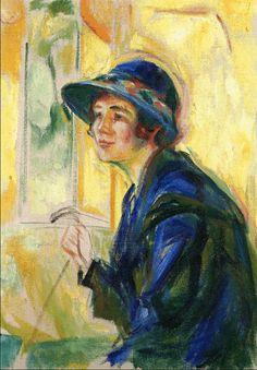 Female Portrait against Yellow Background 1922. Edward Munch (1863-1944)