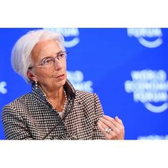 """Christine Lagarde, Managing Director, International Monetary Fund (IMF), Washington DC speaking during the Session """"""""A Positive Narrative for the Global Community"""""""" at the Annual Meeting 2017 of the World Economic Forum in Davos, January 18, 2017 Copyright by World Economic Forum / Manuel Lopez #davos #wef #am17 #am #worldeconomicforum"""