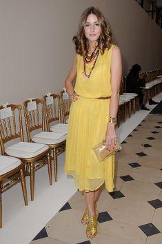 Olivia Palermo en el desfile de Giambatista Valli Haute Couture