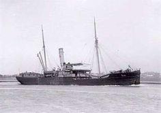 """Induna"" (1891-1932); Passenger & cargo steamship."