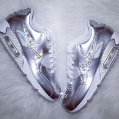 6205957c013 How gorgeous are the silver Nike Air Max 90 ❤ Yay or Nay   nike