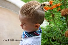 FLY LITTLE GUY: Boys Hair Tutorial: The Man Bun