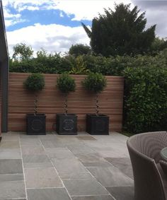 Tumbled Kandla Grey Sandstone Paving, cost effective alternative to decking Apartment Patio Gardens, Garden Design, Grey Patio, Deck Alternatives, Patio Design, Back Garden Design