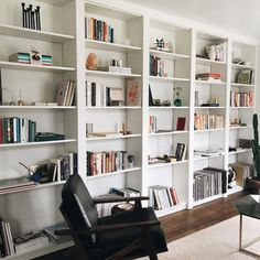 Pwfixerupper ikea billy bookcase hack, built in bookcase, ikea billy hack, book Billy Ikea Hack, Ikea Billy Bookcase Hack, Billy Bookcases, Ikea Hemnes Bookcase, Built In Shelves Living Room, Bookshelves Built In, Diy Built In Shelves, Floor To Ceiling Bookshelves, Ikea Built In