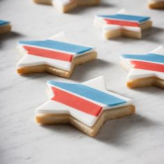 #7 - Stars + Stripes Watercolor Cookies by Jes Lahay