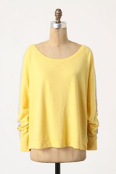 I can go on and on about this sweater. yellow + gray = my colors  Shortstop Pullover #anthropologie