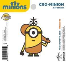 Cro-Minion Sticker - 33006 $2.98