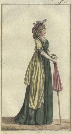 Chemise von dunkelgrünem (dark green chemise) - Journal des Luxus und der Moden, September 1795.