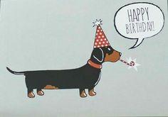 Best Happy Birthday Dachshund Wishes Images Memes Happy Birthday Greetings Friends, Happy Birthday Pictures, Happy Birthday Messages, Dog Birthday Quotes, Happy Birthday Dachshund, Arte Dachshund, Dachshund Love, Daschund, Illustration Inspiration