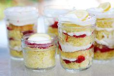Lemon Strawberry Jar Cakes