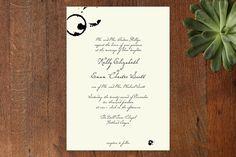 Classic Inkwell Wedding Invitations by Lehan Veenker at minted.com / Tim Burton