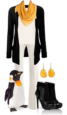 """""""Penguin Style"""" by loveronica ❤ liked on Polyvore"""