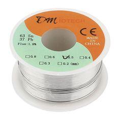 [Visit to Buy] Welding Iron Wire Reel 100g FLUX 1.8% 0.5mm 63/37 Tin Lead Line Rosin Core Flux Solder Soldering Wire Roll #Advertisement