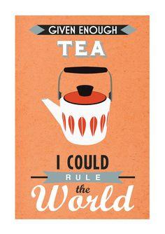Retro Tea Poster Cathrineholm Mid Century by oflifeandlemons, $18.50