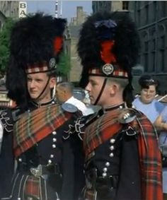 Scots Guards. Pipers in full dress