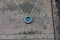 Halskette silber mit emaille SIMPLE 28 von MartaRudnicka auf DaWanda.com