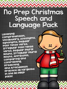 NO PREP speech and language pack for Christmas!