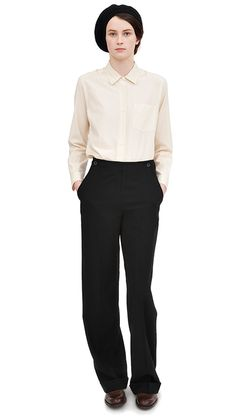 Love the proportions of blouse and trousers Margaret Howell A/W 2013