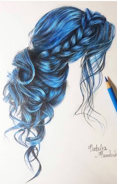 Sketch work #colorpencils #pencilart Pencil Art Drawings, Cool Art Drawings, Beautiful Drawings, Art Drawings Sketches, Hair Sketch, Illustration Mode, Color Pencil Art, How To Draw Hair, Art Tips