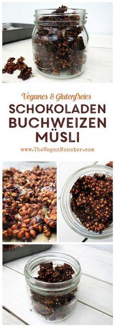 Super Knuspriges Schokoladen Buchweizen Müsli (Vegan, Glutenfrei)