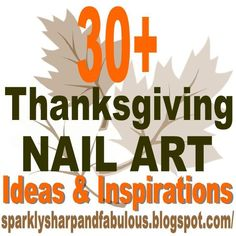 The Sparkle Queen: Thanksgiving and Fall Nail Art {Ideas and Tutorials} sparklysharpandfa. Love Nails, How To Do Nails, Fun Nails, Holiday Nail Art, Fall Nail Art, Thanksgiving Nail Art, Thanksgiving Ideas, Fingernails Painted, Spooky Eyes