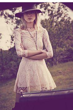 Lacey Affair Dress white lace