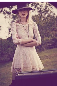 Lacey Affair Dress white lace