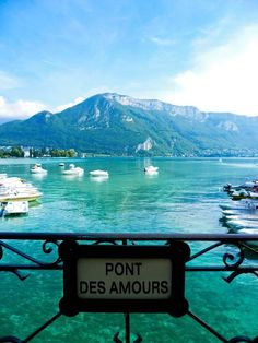 """""""Bridge of Love"""" Annecy, Haute Savoie, France Most Romantic Places, Beautiful Places, Beautiful Words, Places To Travel, Places To See, Annecy France, Lake Annecy, Ville France, Lyon France"""