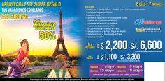 Europa en tus vacaciones escolares, aprovecha esta súper promoción... contactanos a gerencia@alereperutravel.com